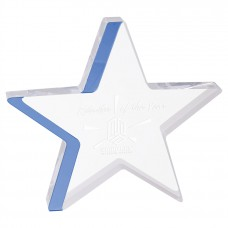 Star Acrylic with Blue Accent